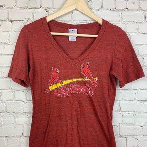Women's St. Louis Cardinals Shirt Large Red M8